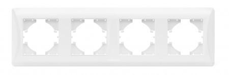 VIDEX BINERA Рамка 4-постовая пластиковая горизонтальная
