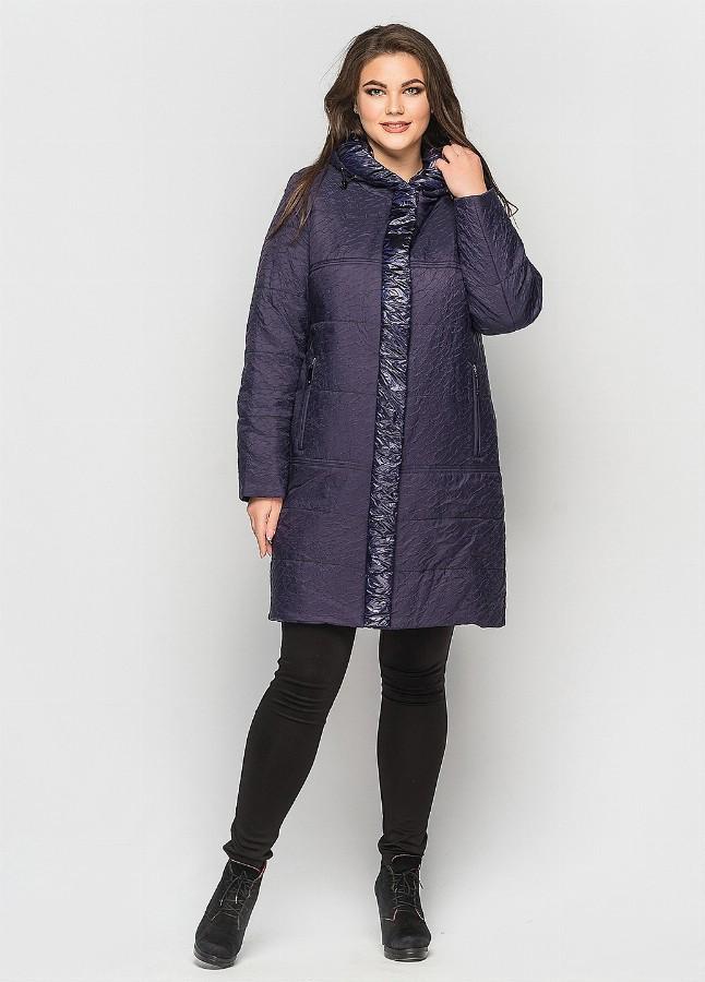 Пальто женское  синее CR-70P184-BLU