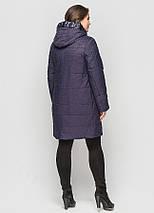 Пальто женское  синее CR-70P184-BLU, фото 3