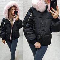 Женская зимняя куртка Аkademy  ткань- плащевка мэмори  наполнитель холлофайбер 300 цвет черный, фото 1