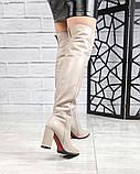 Элитная коллекция! Шикарные ботфорты на каблуке из итальянской кожи, фото 4
