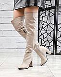 Элитная коллекция! Шикарные ботфорты на каблуке из итальянской кожи, фото 2
