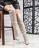 Элитная коллекция! Шикарные ботфорты на каблуке из итальянской кожи, фото 7