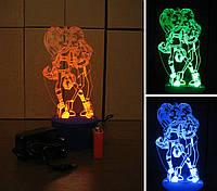 3d-светильник Монстр Хай, 3д-ночник, несколько подсветок (батарейка+220В)