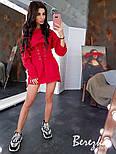 Женское стильное худи на флисе с поясом-корсетом (в расцветках), фото 5