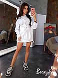 Женское стильное худи на флисе с поясом-корсетом (в расцветках), фото 6