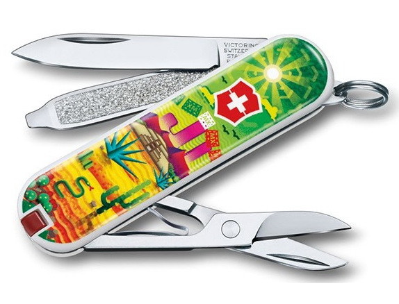 Нож складной, мультитул Victorinox Classic LE Mexican Sunset (58мм, 7 функций) 0.6223.L1807