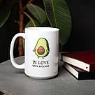 """Чашка """"In love with avocado"""", 420 мл подарочная керамическая, фото 2"""