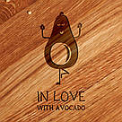 """Доска для нарезки """"In love with avocado"""" 25 см, фото 2"""