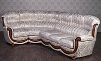 """Угловой диван в гостиную """"Джове"""", каркас и вставки из натурального дерева, раскладная система для сна"""