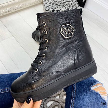 Женские зимние ботинки без каблука, фото 2