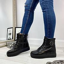 Женские зимние ботинки без каблука, фото 3