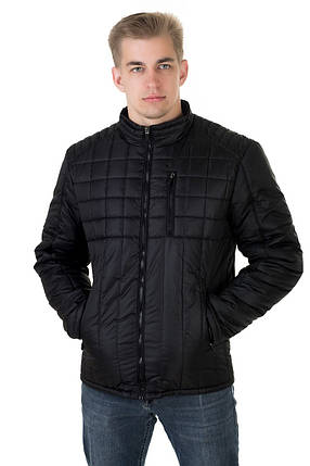 Куртка чоловіча демісезонна Андре чорний (48-58), фото 2