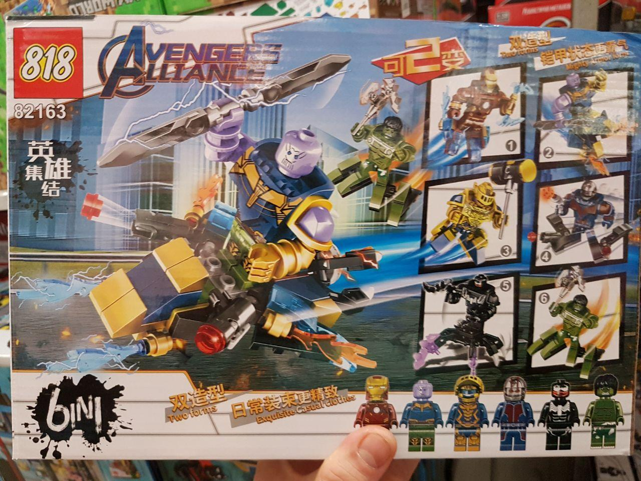 Конструктор Bela 82163 Набор конструкторов 6 в 1 Мстители Avengers