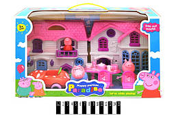 Домик Свинки Пеппы YM8-332 8 фигурок, аксессуары, в коробке Свинка Пеппа Peppa Pig