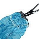 Гамак садовый с антимоскитной сеткой. Цветной подвесной гамак, Туристический гамак голубой с синим, фото 8