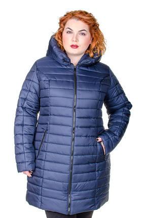 Куртка женская   зимняя Катрина синий, фото 2