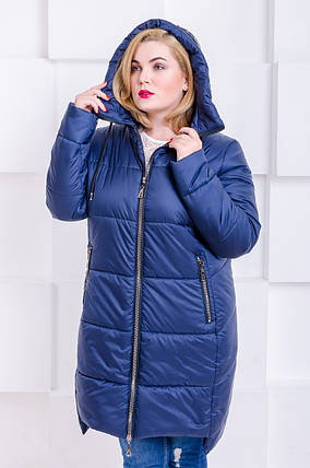 Куртка женская   зимняя Риана темно-синий, фото 2
