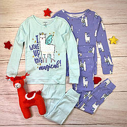 Набор из 2-х хлопковых пижам Лама (5-14 лет) Картерс Carter's 	4-Piece Llama Snug Fit Cotton PJs