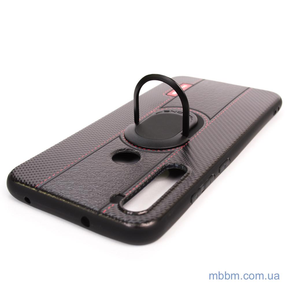 Чехлы для Xiaomi Redmi Note 8 DLONS NY с держателем-подставкой Black Черный
