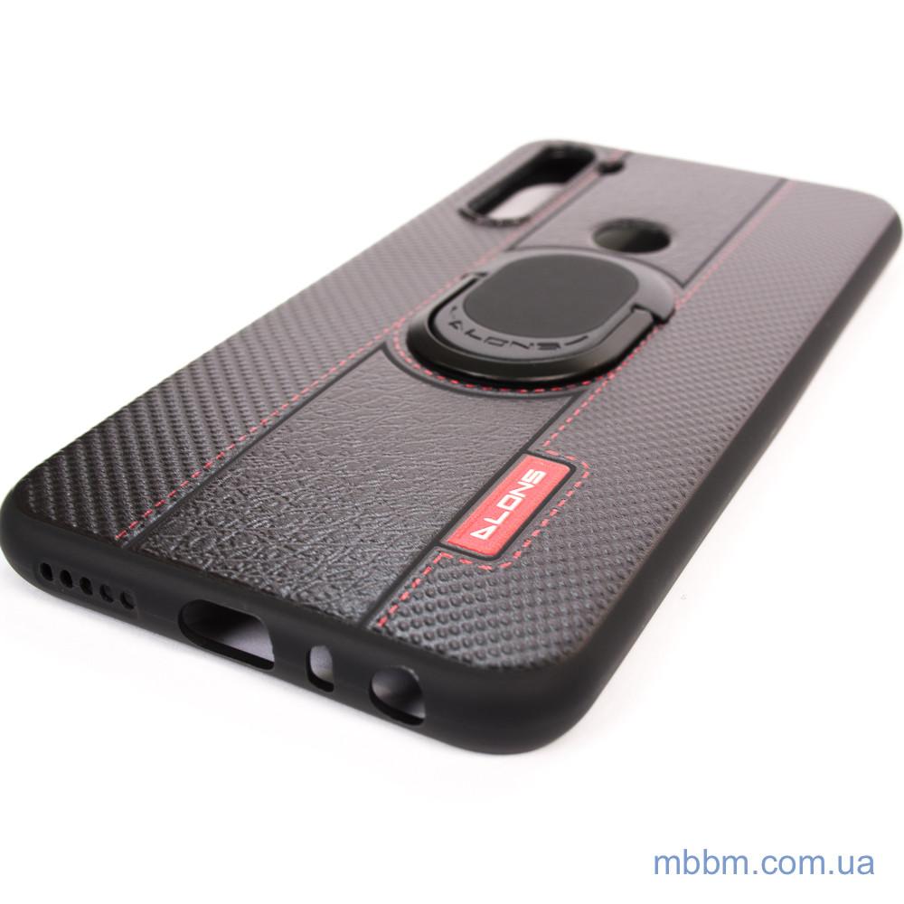 Чехол DLONS NY с держателем-подставкой Xiaomi Redmi Note 8 Black Черный