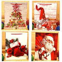 Пакеты бумажные новогодние