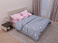 """Семейное постельное белье евро-размер с двумя пододеяльниками (12940) хлопок """"Ранфорс"""" KRISPOL Украина, фото 1"""