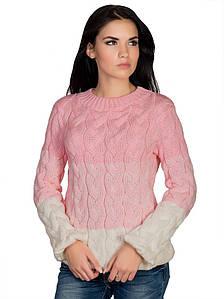 Джемпер женский  50185/1(розовый-молоко)