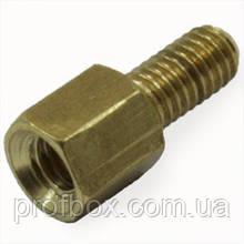 Стійка металева гайка/гвинт М4х5+6