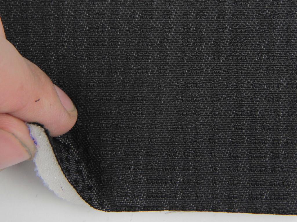 Тканина для сидінь автомобіля, колір темно-сірий, на поролоні (для центральної частини), Німеччина