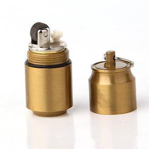 Зажигалка бензиновая микро , EDC мини зажигалка ZIPPO золотая.