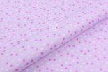 """Лоскут ткани """"Мелкие звёздочки"""" бело-сиреневые, №1970, размер 40*78 см, фото 3"""