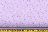 """Лоскут ткани """"Мелкие звёздочки"""" бело-сиреневые, №1970, размер 40*78 см, фото 5"""