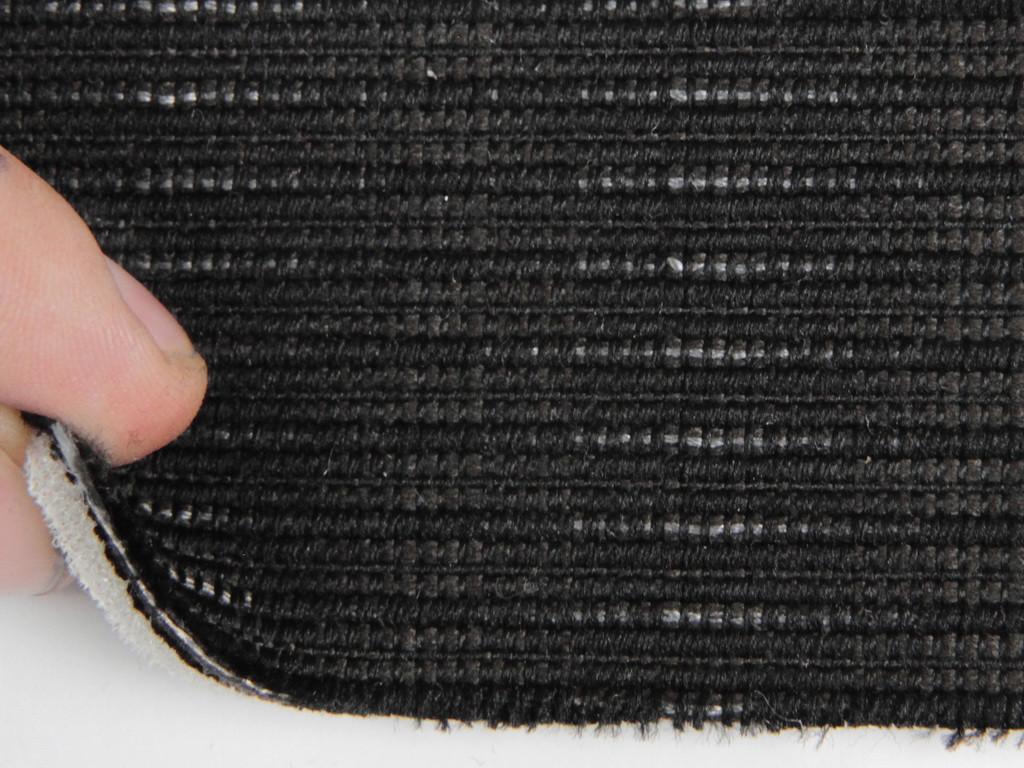 Ткань для сидений автомобиля, цвет темно-серый, на поролоне (для центральной части), Германия