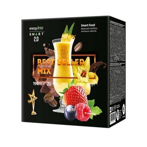 Диетическая замена  питания Еnergy Diet Smart Best Seller Mix ассорти  из 5 вкусов коктейль энерджи диет