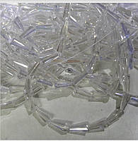 Бусины капля 12мм, на нитке 50 шт. (Конус), цвет кристалл