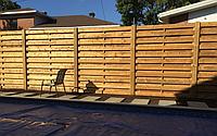 Заборы деревянные из сосны 2000х1700 мм (L=2000,H=1700) «Горизонтальный штакетник», фото 1