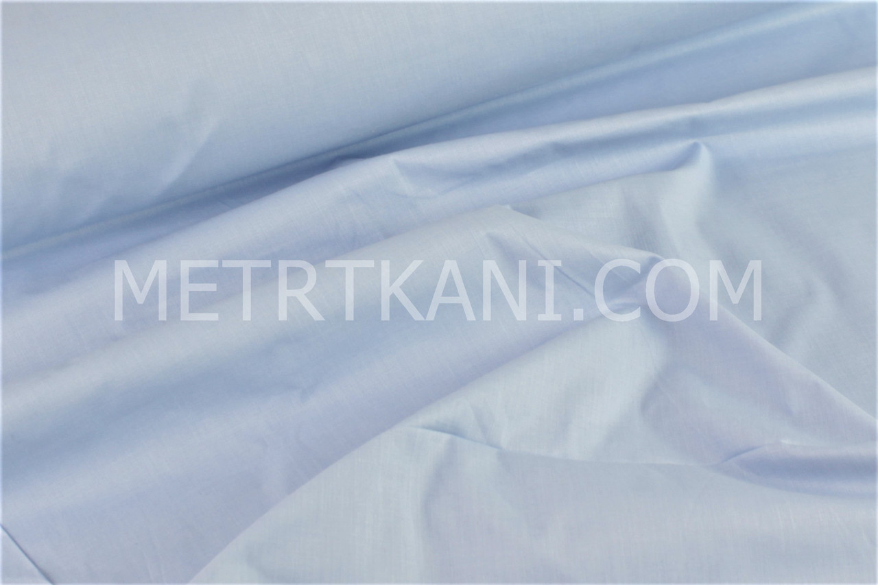 Хлопковая ткань голубого цвета 135г/м2 №814