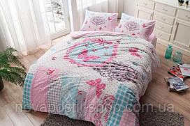 ТАС Фланель Butterfly 200x220, комплект постельного белья евро