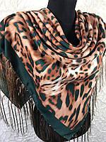 Теплый леопардовый платочек, фото 1
