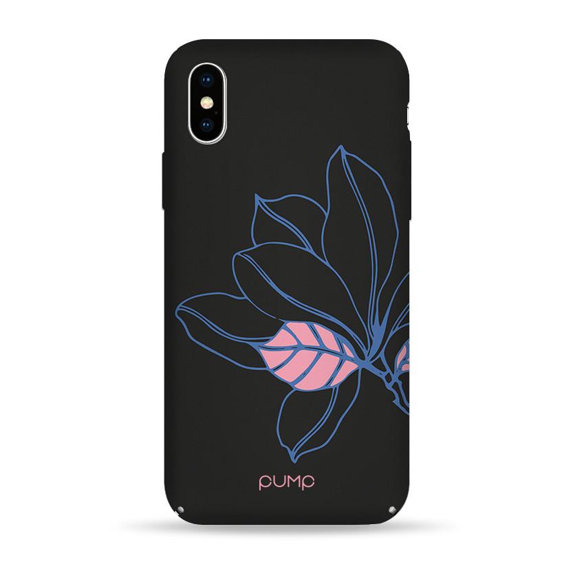 Pump Tender Touch Case чехол для iPhone X/XS Black Flower