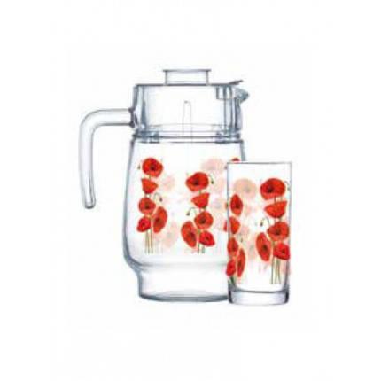 Набор для воды Luminarc Hypnosis графин 1,6л, стаканы 270мл-6 штук-7 предметов P4820, фото 2