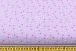 """Отрез ткани """"Мелкие звёздочки"""" бело-сиреневые, №1970, размер 60*160 см, фото 5"""