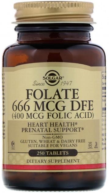 Фолиевая кислота Solgar Folic Acid 400 mcg (250 таб) солгар