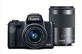 Беззеркальная камера CANON EOS M50 15-45mm + Canon EF-M 55-200 mm f/4.5-6.3 IS STM Black