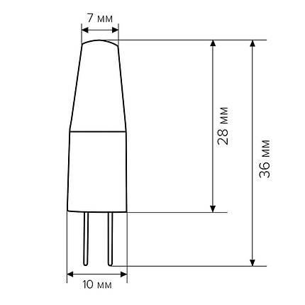 Світлодіодна лампа Biom G4 3.5W 1507 4500K AC/DC12, фото 2