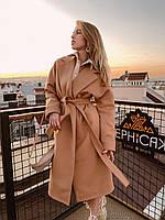 Пальто кашемировое бежевое, фото 1