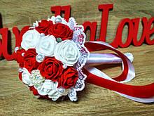 Свадебный букет-дублер для невесты Stile (Красно-белый)