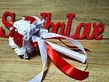 Свадебный букет-дублер для невесты Stile (Красно-белый), фото 3