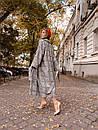 Шерстяное женское Пальто в клетку на запах с поясом 60pt241, фото 5